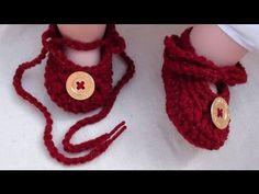 Tie Up Crochet Baby Booties by Crochet Hooks You