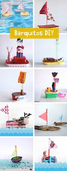 Manualidades con niños: #barquitos DIY #upcycling #boats