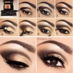 Step by step to sultry #eyes using Bronze Amour by @Vegas_Nay #LancomeEyes