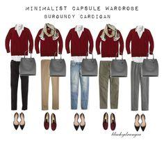 """Minimalist Wardrobe - Fall 2015 - Burgundy Cardigan"" by bluehydrangea ❤ liked on Polyvore featuring Boden, J.Crew, Lost & Found, Zara, Rêve D'un Jour and Banana Republic"