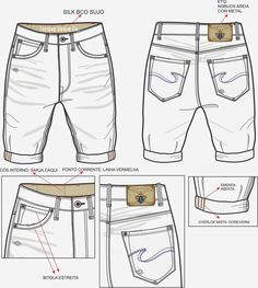 Fashion Sketch Template, Fashion Design Sketches, Jeans Drawing, Custom Made Clothing, Clothing Sketches, Fashion Figures, Colored Jeans, Denim Fashion, Pattern Fashion