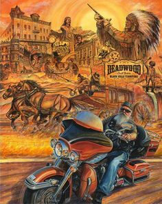 DAVID MANN'S VERSION OF WESTERN TOWN OF DEADWOOD , JUST RIDING THRU