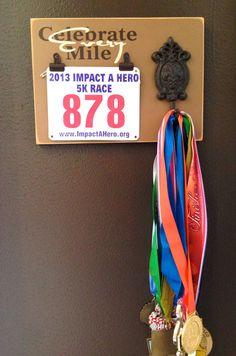 Never mind, I like this one better! Marathon medal holder and Race bib holder by FrameYourEvent.