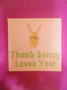 Thumb Bunny Easter Craft for Kids.  Easter Crafts for Kids || The Chirping Moms