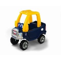Little Tikes Cozy Truck  used indoors, boys love the trunk for item storage. http://www.toylinksinc.com/