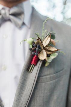 grooms boutonnieres - photo by Yasmin Roohi http://ruffledblog.com/botanical-greenhouse-wedding-inspiration