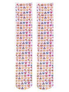Emoji Knee High Socks – Living Royal Emoji Socks
