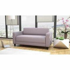 Canapé fixe 2 places en tissu