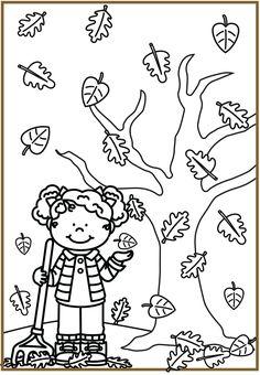 Thema herfst kleuters   Klas van juf Linda Autumn Activities For Kids, Preschool Activities, Crafts For Kids, Mother's Day Projects, Craft Projects, Woodland Party, Colored Paper, Autumn Leaves, Coloring Pages