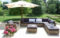 Element narożny FLORENCE Garden Sofa, Outdoor Furniture Sets, Outdoor Decor, Rattan, Florence, Armchair, Sweet Home, Patio, Interior