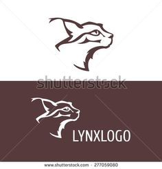 bobcat head logo - stock vector