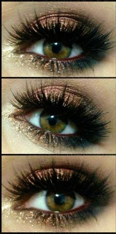 gorgeous copper shimmer #smokey eyes