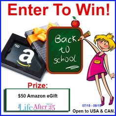Back to School $50 Amazon Gift Card Giveaway | The Parenting Patch