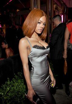 TEYANA TAYLOR At Chance the Rapper x GQ's 2017 Grammys After Party.