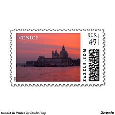 Sunset in Venice Postage Stamp