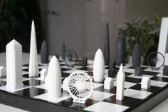 玩西洋棋邊認識知名地標,倫敦 Skyline 造型西洋棋