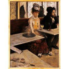 The Absinthe Absinthe Drinker Canvas Art - (24 x 36)