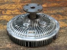 Vintage industrial steampunk cast iron Aluminum gear sprocket lamp base project