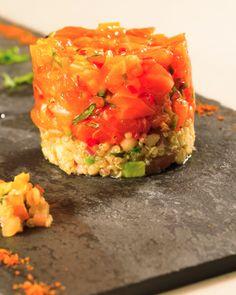 Salmon Ceviche with Merquen  Spiced Quinoa