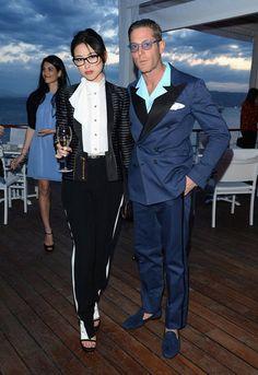 Cannes Film Festival 2012- Juju Zhu with Lapo Elkann at the Vanity Fair party