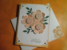 Birthday Flowers Card with matching envelope