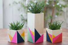 Diy colorful wooden boxes