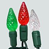 Gabriel Red/Warm White/Green Christmas C6 LED Outdoor Indoor 70 Light Set christmas deals week