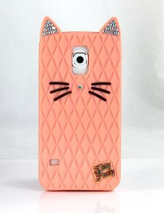 Amazon.com: TISHAA Samsung Galaxy S6 Case,TISHAA So Cute Lovely Bling Cat Protective Soft Skin Cover Silicone Rubber Cell Phone Case (Salmon): Cell Phones & Accessories