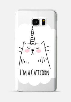 I'm a Caticorn - Cat - Unicorn Galaxy Note 5 case by Happy Cat Prints   Casetify