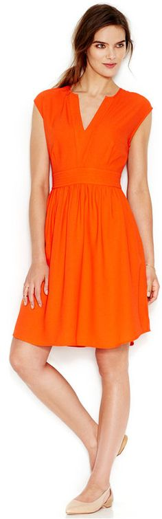 Maison Jules V-Neck A-Line Dress
