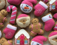 Felt Ginger Cookie Tree Ornaments-Christmas от GingerSweetCrafts