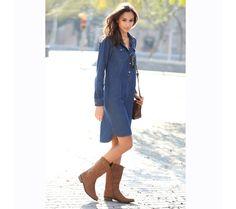 Asymetrické džínsové šaty | modino.sk #ModinoSK #modino_sk #modino_style #style #fashion #autumn #fall #bestseller #jesen Jeans, Vestido Casual, Look, Ideias Fashion, Shirt Dress, Outfit, Denim, Sweaters, Shirts