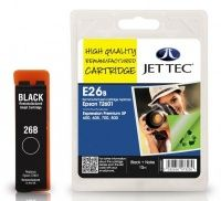 JetTec Epson T2601 Black Remanufactured Ink Cartridge The Epson T2601 Black remanufactured Ink Cartridge by JetTec - E26B cartridge is a JetTec branded remanufactured printer ink cartridge for Epson printers. They provide OEM style quality printing but a http://www.MightGet.com/february-2017-3/jettec-epson-t2601-black-remanufactured-ink-cartridge.asp