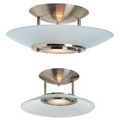 Hydrogen Semi-Flush Ceiling Light