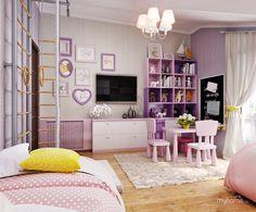 дизайн детской комнаты для двух девочек: 22 тыс изображений найдено в Яндекс.Картинках