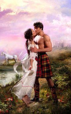 Scot in his kilt, Romance book cover art, Historical romance novel cover art, romantic painting; Historical Romance Novels, Romance Novel Covers, Romance Art, Fantasy Romance, Lovers Romance, Art Romantique, Fantasy Love, Romantic Paintings, Les Sentiments