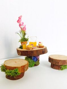 Fairy Table Miniature breakfast table for by TheBraceletHouse