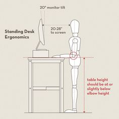 Standup Desk Ergonomic Guide. I would like a desk that can switch between siting ad standing.