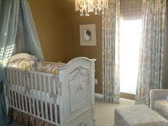 One of HGTV's Twilight themed nurseries. I love the draping over the crib. Elegant.