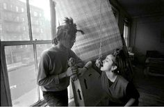 Jean-Michel Basquiat with Madonna by Stephen Torton. Via The Red List
