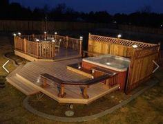 Multi-Level Deck with Hot Tub