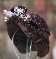 Antique Original French Wire Framed Labeled Bonnet for Jumeau Bru Steiner Eden Bebe, E.J. doll
