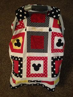 Mickey Mouse car seat canopy