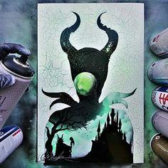 Oil Pastel Art, Oil Pastel Drawings, Doodle Art Drawing, Art Drawings, Tangled Painting, Dibujos Zentangle Art, Disney Paintings, Pinturas Disney, Silhouette Painting