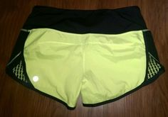 Lululemon Neon Yellow-green, Black Lace Trim Sexy Shorts. Get the lowest price on Lululemon Neon Yellow-green, Black Lace Trim Sexy Shorts and other fabulous designer clothing and accessories! Shop Tradesy now