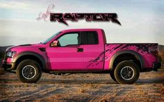 PLEASEEEEE. Lady hot pink ford raptor. I would Totally drive this and it's a ford, That's saying something!!!