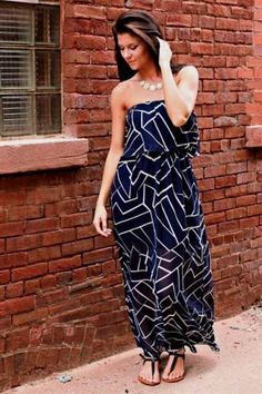Cool casual strapless maxi dress 2017-2018 Check more at http://24myfashion.com/2016/casual-strapless-maxi-dress-2017-2018-2/