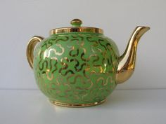 Vintage Teapot Sudlow's Burslem Made in England by ifindubuy