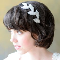 Beaded Leaves Headband from Poppyhearts for $24.99 Renegade Craft Fair, Vintage Inspired Dresses, Craft Fairs, Affordable Fashion, Headbands, Hair Accessories, Leaves, Pretty, Fascinators