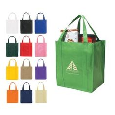 Promotional products - Non-Woven Shopper Tote Bag with your logo - Recyclable, reusable And Hand Washable.  As low as $1.29 each